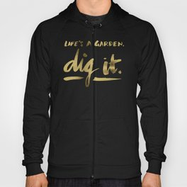 Dig It – Gold & Turquoise Hoody