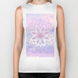 Star Mandala Unicorn Pastel Clouds #1 #decor #art #society6 Biker Tank