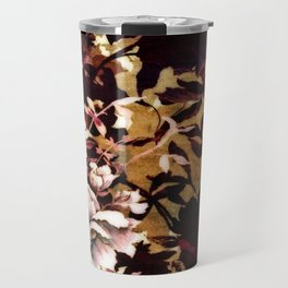 Tropical Blaze Floral Print Travel Mug