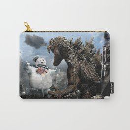 Godzilla versus The Staypuft Marshmallow Man Carry-All Pouch