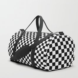 Black and White Checkerboard Duffle Bag