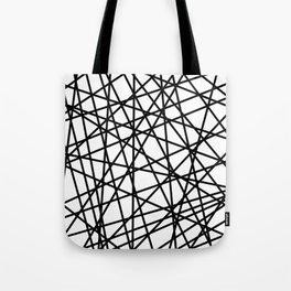 Lazer Dance Black on White Tote Bag