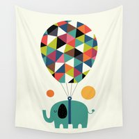 fly Wall Tapestries featuring Fly High And Dream Big by Andy Westface