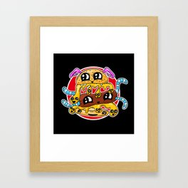 Fast Food FRENZY - The Burger Squeeb Mash Up! Framed Art Print
