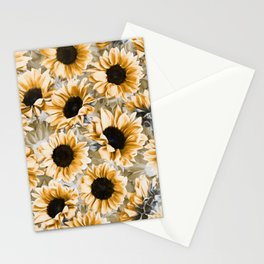 Dreamy Autumn Sunflowers Stationery Cards