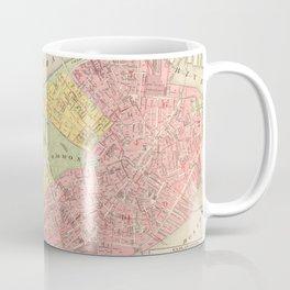 Vintage Map of Boston MA (1876) Coffee Mug