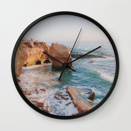 Sunset Sunday Wall Clock