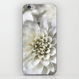 Infinite Petals: Dahlia Flower In White iPhone Skin