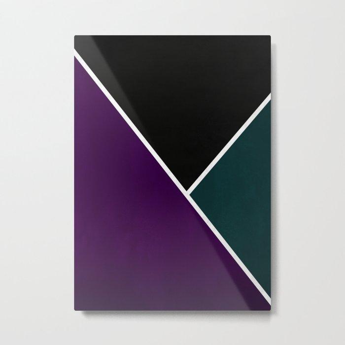 Noir Series - Purple & Green Metal Print
