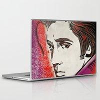 elvis presley Laptop & iPad Skins featuring Elvis Presley by Art By Ariel Cruz