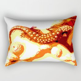 Vintage Salamander Rectangular Pillow