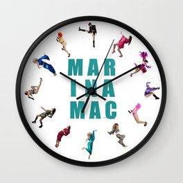 Many Marinas - Marina Mac collage Wall Clock