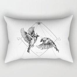 Sparrow Dance Rectangular Pillow