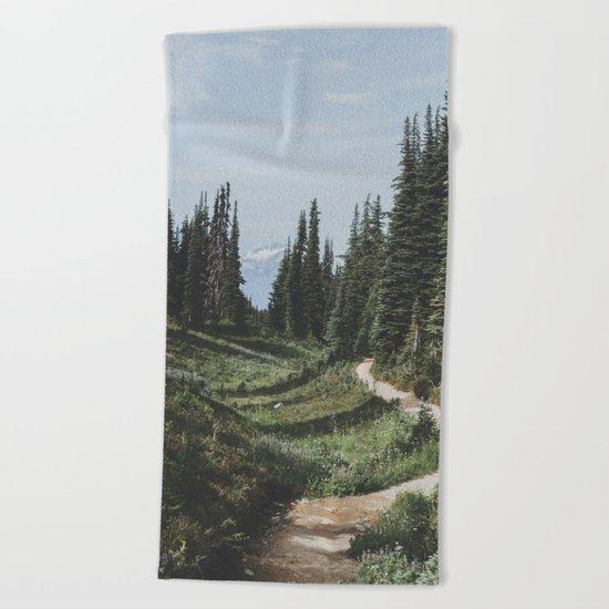 Mountain Trail Beach Towel