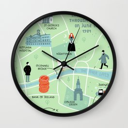 Ulysses Map Wall Clock