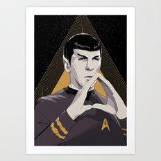 Star.Trek Spock Leonard Nimoy Abstract Pop Artwork Art Print