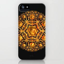 Golden Mandala iPhone Case