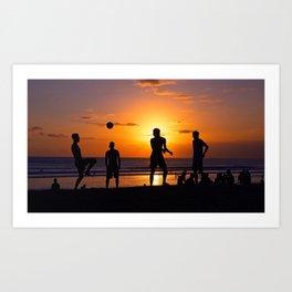 Football at Sunset. Art Print