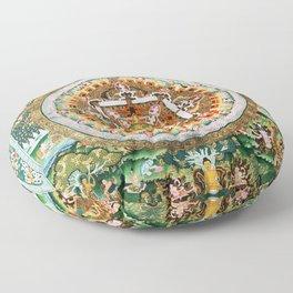 Buddhist Mandala White Tara Floor Pillow