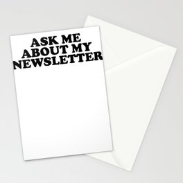 Ask Me About My Newsletter Social Media  Stationery Cards