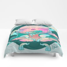 Horror fish Comforters