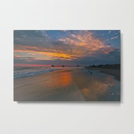 Surf City Sunset  8/3/14 Metal Print