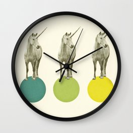 Unicorn Parade Wall Clock