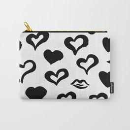 Grunge Brush Hearts Seamless Pattern Carry-All Pouch