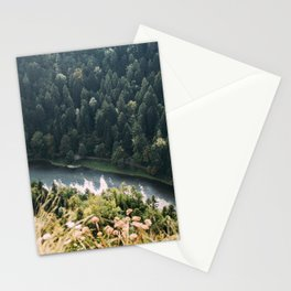 Aerial Forest River   Mountain Stream Stationery Cards