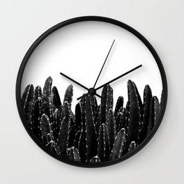 Black Cacti Dream #1 #minimal #decor #art #society6 Wall Clock