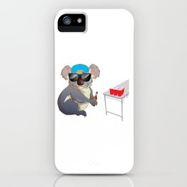Koalalfied to Party Funny Drinking T-shirt iPhone Case