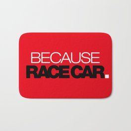 BECAUSE RACE CAR v6 HQvector Bath Mat