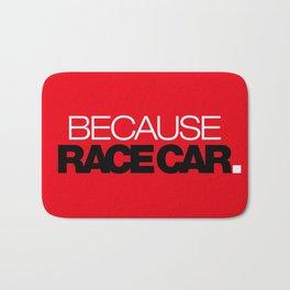 BECAUSE RACE CAR v6 HQvector Bath Mat