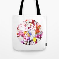 ultraviolence Tote Bags featuring Ultraviolence by Kat Heroine