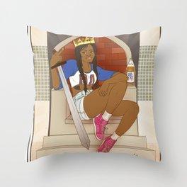 Queen of Swords - Azealia Banks Throw Pillow