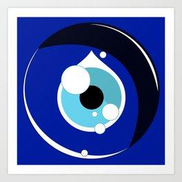 Luck in Circles - Nazar Art Print