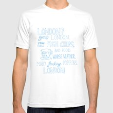 snatch quote blue MEDIUM White Mens Fitted Tee