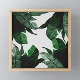 Banana Palm Leaves Framed Mini Art Print