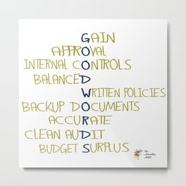 Good Accounting Words Metal Print