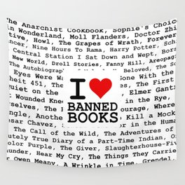 I Heart Banned Books Wall Tapestry