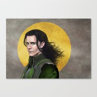 loki Canvas Prints featuring Loki by Slugette