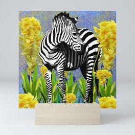 ZEBRA YELLOW ORCHIDS TROPICAL BLOOM Mini Art Print