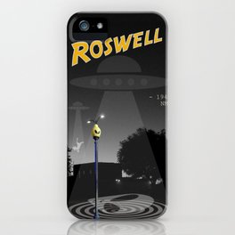 Aliens Over Roswell iPhone Case