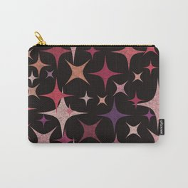 Shimmering Purple, Red, Pink and White Stars Carry-All Pouch