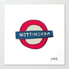 tube sign Canvas Print