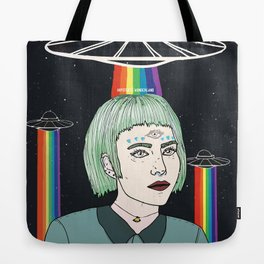 Alien Girl Tote Bag