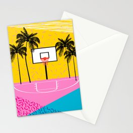 Dope - memphis retro vibes basketball sports athlete 80s throwback vintage style 1980's Stationery Cards