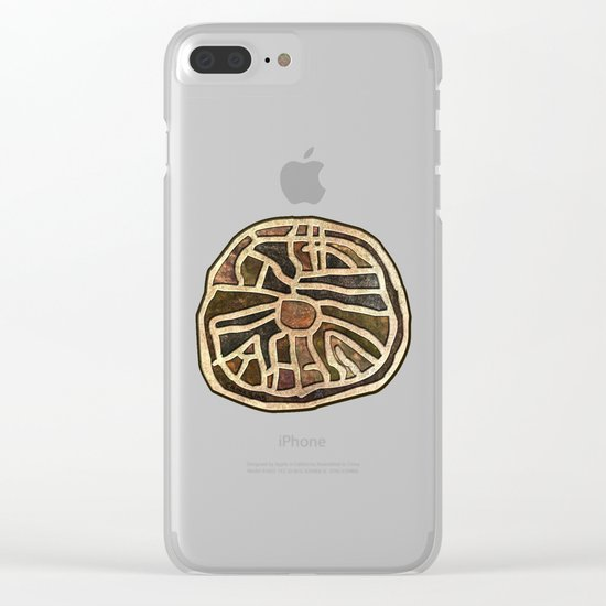 Ancestry / Map Clear iPhone Case