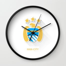 Manchaster City Flat Design Wall Clock