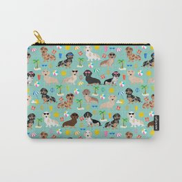 Dachshund beach sunshine summer days doxie dachsie gift must have dog gifts Carry-All Pouch